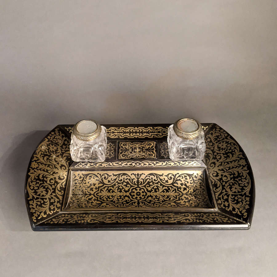 Boulle Inkwell