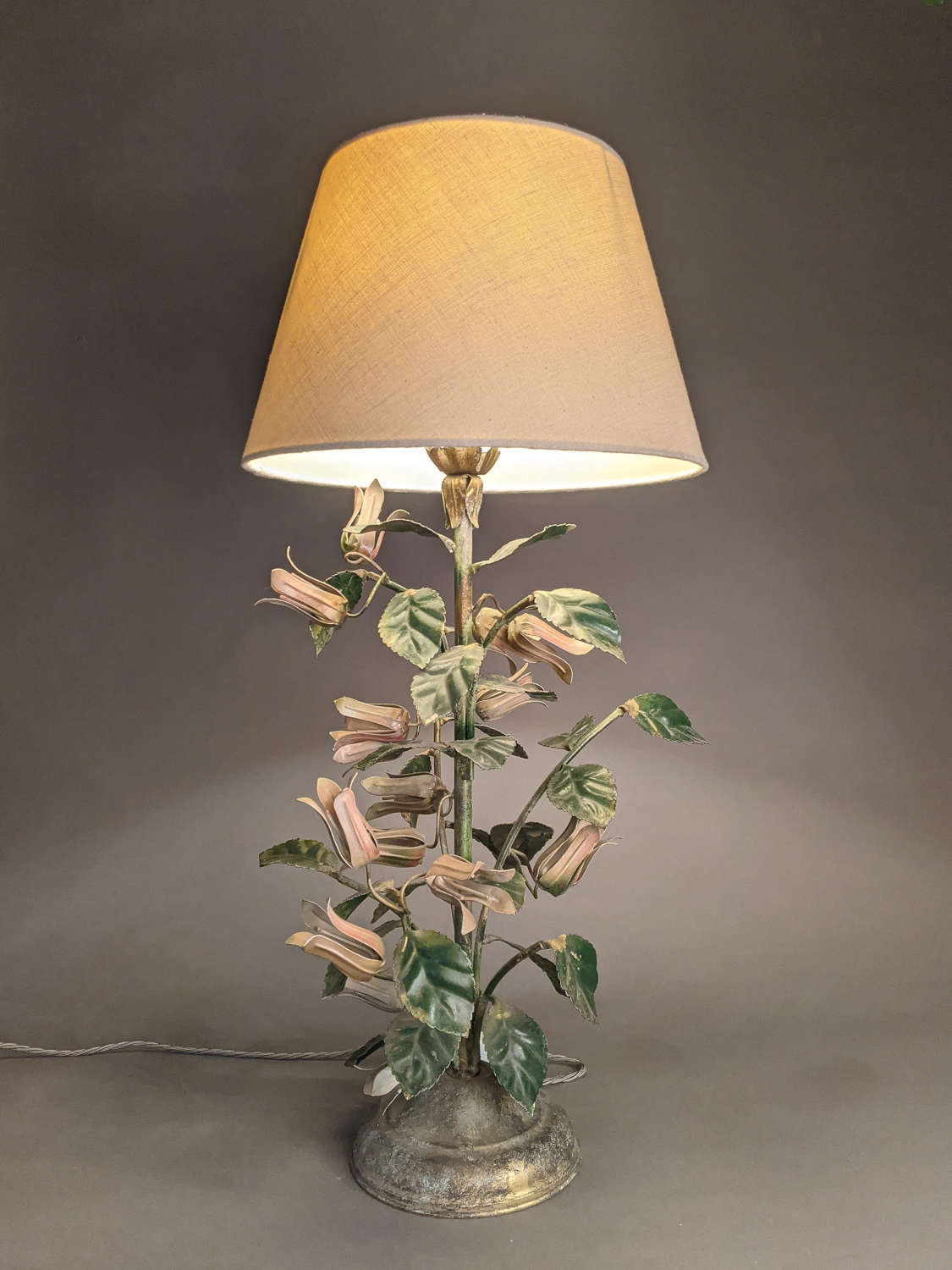 Floral Toleware Lamp