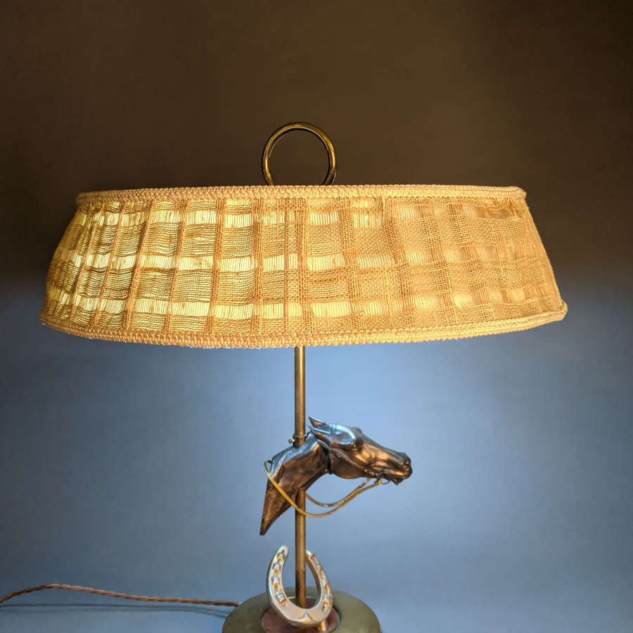 French Horse Lamp