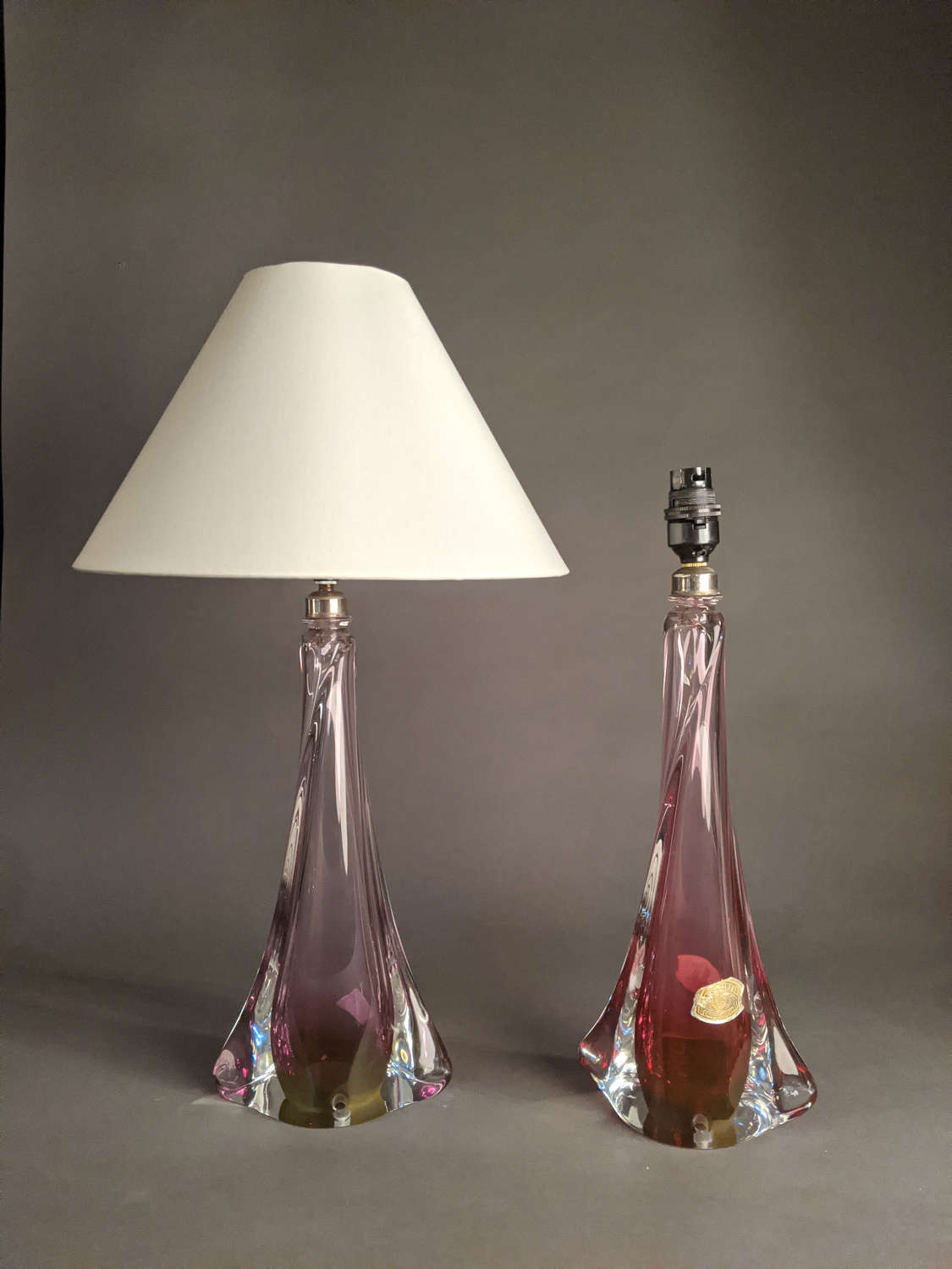 Two Val St Lambert Lamps