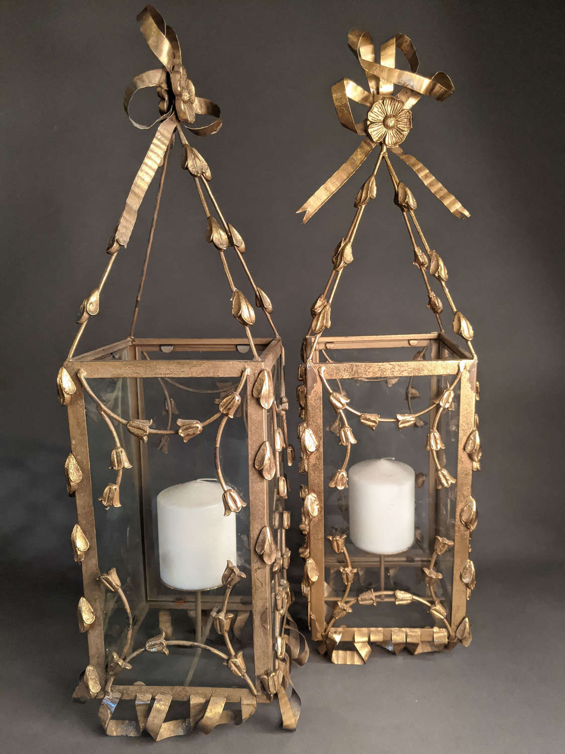 Pair of Brass Lanterns