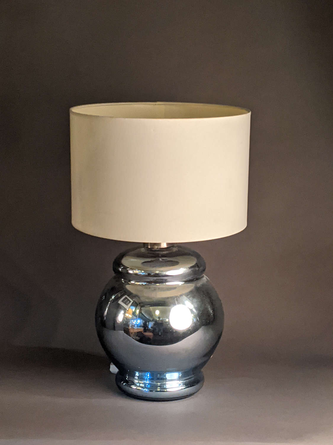 Blue Mercury Glass Lamp