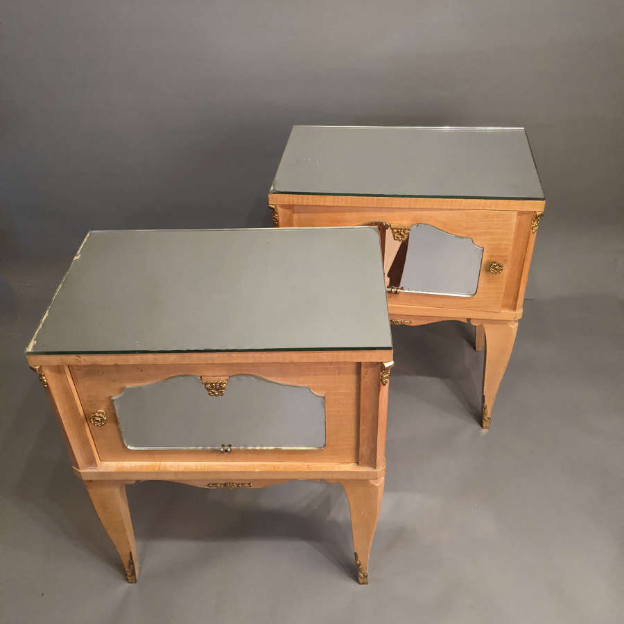 Pair of Maple Side Tables / Bedsides