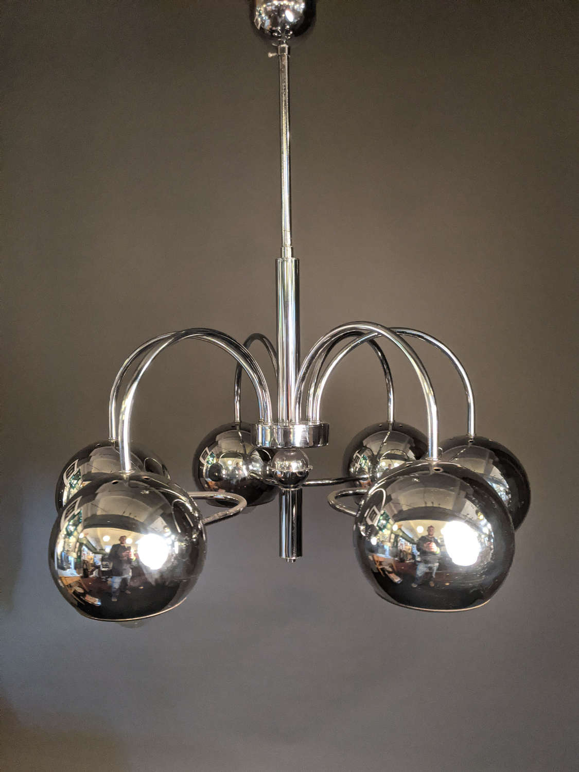 French Chrome Hanging Light