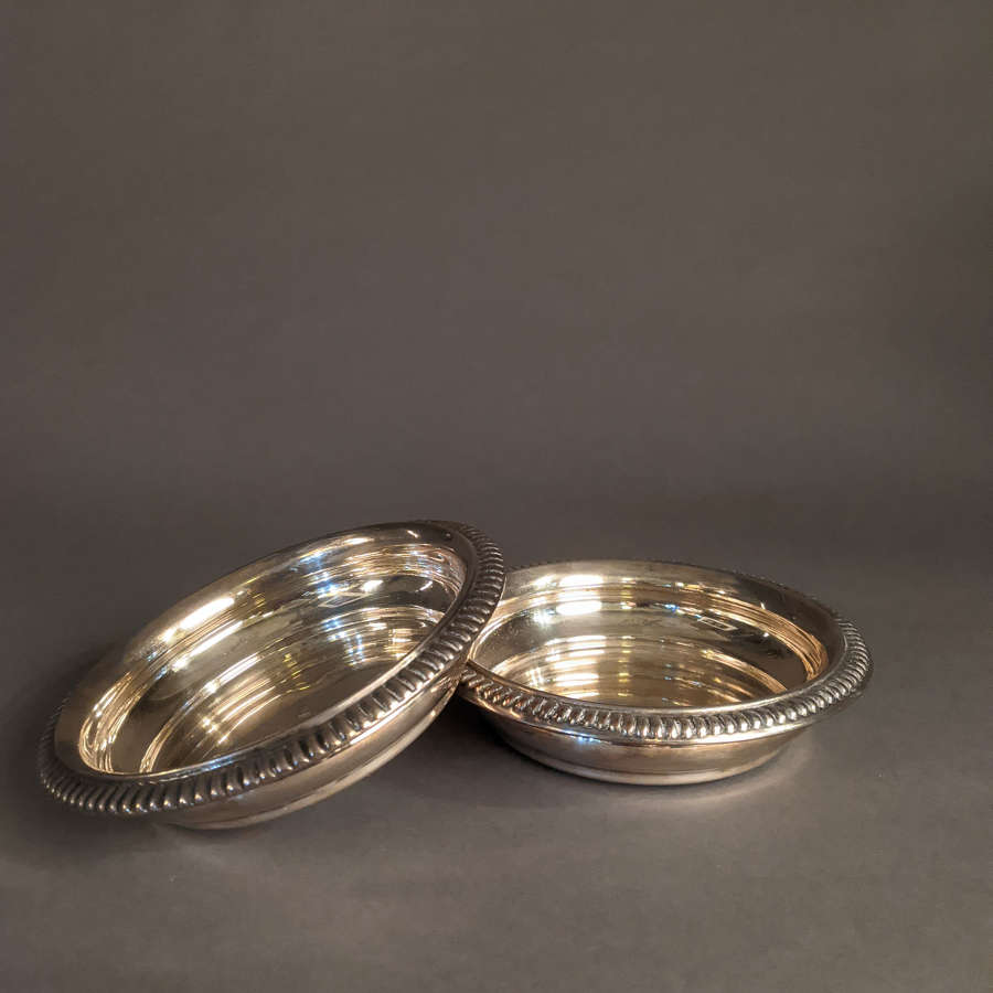 Silver Plated Large French Coasters